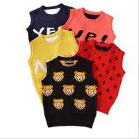 Vest no brand Unisex 2016 1-3Y New Spring autumn baby cardigan boy's sweater vest girls waistcoat outwear winter coat children clothes