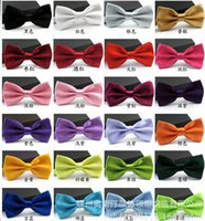 batch stainless steel - Bow tie marriage Pure color neckties Fashion bowknot Men bow tie mixed batch of