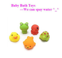 baby water turtles - HOT high quality baby bath toys turtle duck octopus frog sea lion animal shape design which can spray water