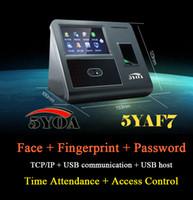 Wholesale Face Facial Fingerprint TCP IP Attendance Access Control Biometric Time Clock Recorder Employee Electronic Reader YAF7