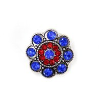 best antique engagement rings - New Arrival Antique Silver Rhinestone Flower Snap Button Bracelet DIY Fashion Jewelry Best Friend Gift SHU1033