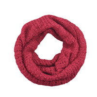 acrylic fabric - Fashion New Knitted Winter Ring Scarf Women Solid Color Warm Fabric Collar Snood Neckerchief Femme Costume Gift Scarves