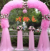 Wholesale Silk flower arches opening celebration wedding happiness door finished silk props