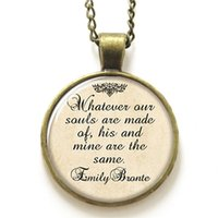 american mining - 10pcs Romance necklace Whatever our souls are made of his and mine are the same necklace print photo Quote necklace