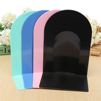 Wholesale Multicolor Plastic Bookend Singles Book Stand Document Holder New Home Office School Holder Shelf Accessory Stationery