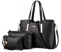 Wholesale The Bag Shop Pieces European And American Fashion Women Single Shoulder Bags Handbags Ladies PU Leather messenger Composite Bag B1004
