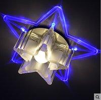 Wholesale Star Ceiling Night Light - 2016 Limited Abajur Ceiling Lights 6pcs lot Night Light Star Indoor Iluminacion Bedroom Bathroom Home Decoration Crystal 3w Led Downlight