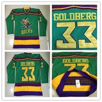 Sewing Stitch - 1996 Greg Goldberg Jersey Anaheim Mighty Ducks Movie Jersey Worn Away Green Stitched Sewn Anaheim Ducks Vintage Greg Goldberg Hockey Jersey