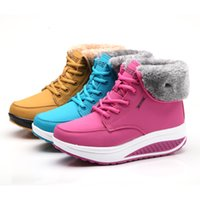 adhesive thermal pad - 2016 Hot Winter female plus velvet swing shoes snow platform winter boots women thermal cotton padded shoes flat ankle boots