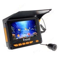 Wholesale M quot Monitor HD TVL Underwater Fishing Camera Sun shield Infrared Fish Finder degrees Angle