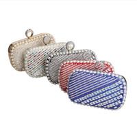 bead bag suppliers - Fashion Lady Girl Bag Crystal Evening Clutch Bag Purse Handbag Shoulder bag Wedding Bridal Accessories Supplier