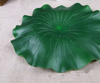 Artificial Plants artificial fish pond - Popular New Novelty Green Artificial Lotus Flower Leaf For pool Home Pond Fish Tank Lotus Leaves Leaf Decor Party garden Decorations