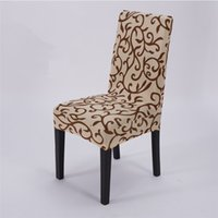 Wholesale Office Chair Cover Wedding Decoration Solid Colors Flowers Polyester Spandex Dining Chair Covers For Wedding Party new Washable Chair Covers