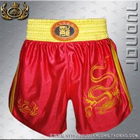 Wholesale Nine Duan Long Sanda Sanda Muay Thai pants embroidered dragon shorts short pants pants SD102 Muay Thai kickboxing
