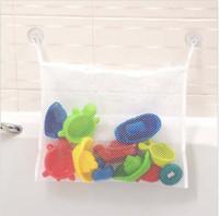 bath toy storage - Baby Kids Bath Tub Toy Tidy Storage Suction Cup Bag Mesh Bathroom Net Organiser Bathroom hanging bag fast shipping JF