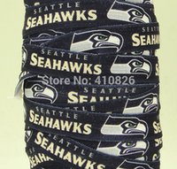 Wholesale ribbon OEM inch Sport Seattle Print Sport Style folded over elastic FOE yds roll