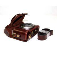 Wholesale PU Leather Case Bag For Sony Cyber Shot DSC HX50 HX60 HX50V HX30 Camera Coffee