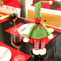 Wholesale Creative Christmas Party wine Bottle Cover Santa Claus Christmas Decoration Supplies Christmas Decorations Festival Party Ornament