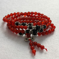 agate rosary beads - 6mm Fubao beads natural red agate beads bracelet rosary bracelet necklace natural crystal bracelet