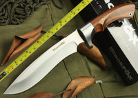 Wholesale NEW FOX Wood Handle MM Blade Full Tang Survival Bowie Hunting Knife VTH12