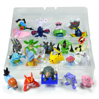 Wholesale 24pcs Monster Action Figures Multicolor CM with Plastic Storage Box