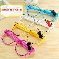Wholesale Multi Function Pen novelty toys Gags Practical Jokes funny gadgets Magic the Cat bow glasses pen Z901