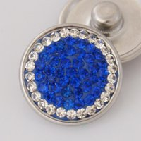 aw jewelry - Hot sale KB2404 AW Simple blue rhinestone MM snap buttons for DIY ginger snap bracelets Accessories charm jewelry