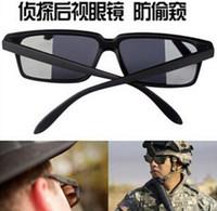 spyware - Rear view anti spyware tracking sunglasses reflective sunglasses UV glasses Men s detective f3