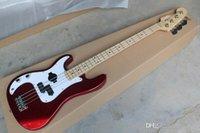 Wholesale left hand strings PRECISION BASS wear body FENDER electric BASS Wine red