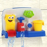 bath toy water wheel - Safe and Nontoxic Baby Bath Toys Wheel Type And Water Spray Type Toys Baby Toy Christmas Gift