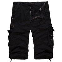 belted cargo shorts - 2016 New Summer Mens Cargo Shorts masculino Multi pocket Cotton Outdoor Sporting gym Shorts Casual Fashion Short Men No Belt