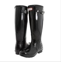 Wholesale New Arrival Hunter Boots Women Wellies Rainboots Ms Glossy Hunter Wellington Rain Boots Wellington Knee Boots Fast Delivery DHL free ship