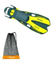 Wholesale Head One Fins Set Scuba Diving Free Dive Snorkeling Yellow