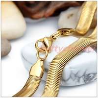 asian snack - New Arrival quot K Gold Plated L Stainless Steel Snack Chain Necklace Women Mens Popular Gift