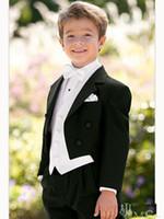 Wholesale Custom Made Kid Notch Collar Children Wedding Suit Boys Attire Boy s Formal Wear Suits Black Wedding Dress Tuxedo For Boy G968