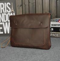 atm manufacturers - Manufacturers selling brand fashion bag men crazy horse men hand bag retro Metrosexual Envelope Clutch Leather Men casual handbag simple atm