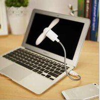 Wholesale Mini USB Fan Pin Flexible Portable Super Mute Cooler Cooling For Android Phone Iphone With Package