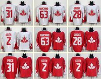 Wholesale Men s Carey Price Duncan Keith Claude Giroux Brad Marchand White Red World Cup of Hockey Jerseys