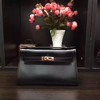 bags hardware buckles - The new fashion Ms header layer of leather imported hardware buckle diagonal handbags many colors can be customized logo bag