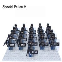 Wholesale Modern army sets blocks compatible with minifigures toys multi types swat toys kids blocks for children gift