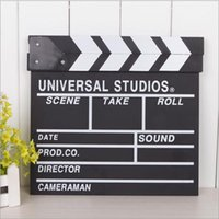Wholesale Zakka grocery clapperboards director board wooden clappers movie shooting props