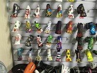 Wholesale customized different style golf headcover fashion golf putter headcovers wholeasle sale pu leather print embroidery headcovers