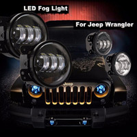 Wholesale Pair quot Inch osram Led Fog Lights for Jeep Wrangler JK TJ LJ Off Road Fog Lamps