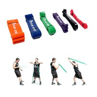 Wholesale Hot Sale Natural Latex Fitness Resistance Bands Exercise Loop for CrossFit Gym Training Rope Yoga Fitness Equipments Y0280