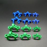 al por mayor vasos de plástico al por mayor-¡Envío libre de DHL !!! Venta al por mayor 10mm 14mm 18mm / 19mm conjunta de plástico Keck Clips Clamp Bong clip para el adaptador de vidrio Nectar Collector Kit
