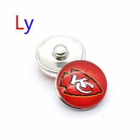 bars city - NOOSA super bowl Kansas city snap button interchangeable chief snap bracelets jewelry snap ginger button Chunks Clasps Snap YD0026