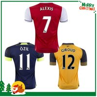 arsenal football jerseys - Custom red yellow ALEXIS GIROUD OZIL WALCOTT XHAKA jersey sports football shirts Arsenal