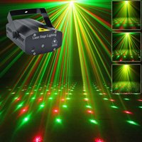 Wholesale 4 Patterns New Mini Portable V Red Green Laser Meteor Projector Lights DJ KTV Home Party Dsico Xmas LED Stage Lighting O100B