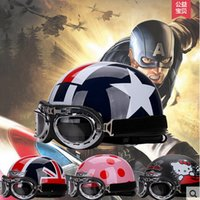 Wholesale 2016 New half face motorcycle helmet Summer sunscreen UV electric bicycle motorbike Harley style helmet ABS FREE SIZE
