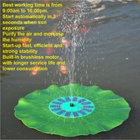 best pond pump - Solar Floating Lotus Leaf Fountain Water Pump Garden Pond Decoration Your Best Choice start up fast
